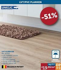 Lvt vloer eik-Uniclic
