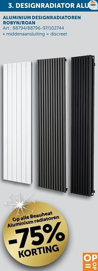 Op alle beauheat aluminium radiatoren -75% korting-Beauheat