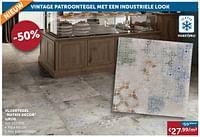 Vloertegel matrix decor grijs-Huismerk - Zelfbouwmarkt