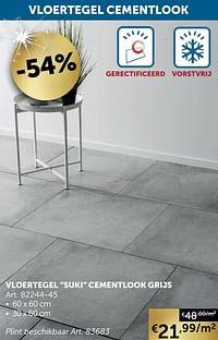 Vloertegel suki cementlook grijs-Huismerk - Zelfbouwmarkt