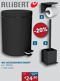 Wc-accessoires zwart-Allibert