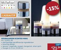 Geurkaarsen scented 400g-Millefiori