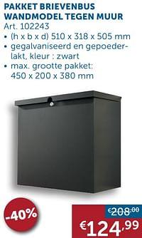 Pakket brievenbus wandmodel tegen muur-Huismerk - Zelfbouwmarkt