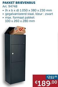 Pakket brievenbus-Huismerk - Zelfbouwmarkt