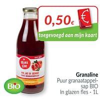 Granaline puur granaatappelsap bio-Granaline