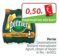 Perrier gearomatiseerd bruisend mineraalwater agrum, citroen of limoen-Perrier