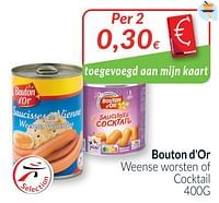 Bouton d`or weense worsten of cocktail-Bouton D