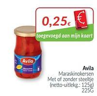 Avila maraskinokersen met of zonder steeltje-Avila