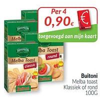 Buitoni melba toast klassiek of rond-Buitoni