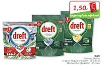 Dreft vaatwastabletten original - regular of citroen of platinum plus quickwash-Dreft