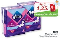 Nana maandverband-Nana