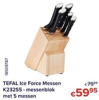 Tefal ice force messen k232s5 - messenblok met 5 messen-Tefal