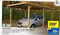 Houten carport-Huismerk - Carrefour