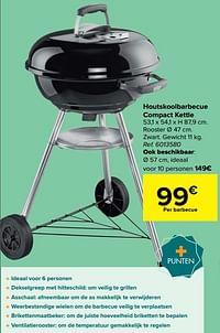 Houtskoolbarbecue compact kettle-Weber