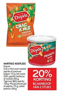 Hartige nootjes duyvis 20% korting bij aankoop van 2 stuks-Duyvis