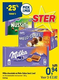 Chocoladetablet met karamel-Milka