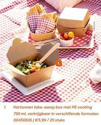 Kartonnen take-away box met pe coating-Huismerk - Ava
