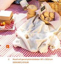 Rood-wit geruit picknickdeken-Huismerk - Ava
