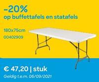 -20% op buffettafels en statafels-Huismerk - Ava