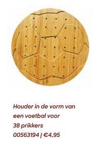 Houder in de vorm van een voetbal voor 38 prikkers-Huismerk - Ava