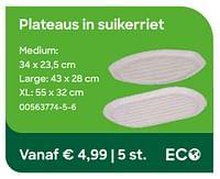 Plateaus in suikerriet-Huismerk - Ava