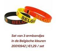 Set van 3 armbandjes in de belgische kleuren-Huismerk - Ava