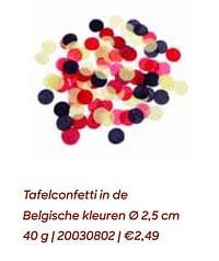 Tafelconfetti in de belgische kleuren-Huismerk - Ava
