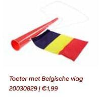 Toeter met belgische vlag-Huismerk - Ava