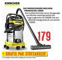 Kärcher nat-droogzuigers inox wd6 premium 30l 1300w-Kärcher