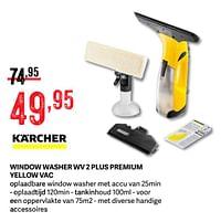 Kärcher window washer wv 2 plus premium yellow vac-Kärcher