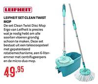 Leifheit set clean twist mop-Leifheit