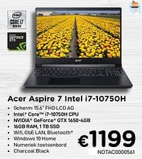Acer aspire 7 intel i7-10750h-Acer