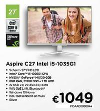 Acer aspire c27 intel i5-1035g1-Acer