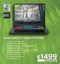 Acer nitro 5 intel i7-10750-Acer