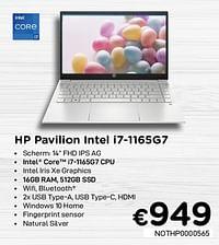 Hp pavilion intel i7-1165g7-HP