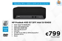 Hp prodesk 400 g7 sff intel i5-10400-HP