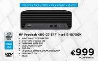 Hp prodesk 400 g7 sff intel i7-10700k-HP
