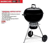 Barbecue original kettle e-5710-Weber