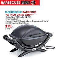 Weber elektrische barbecue q 1400 dark grey-Weber