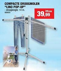 Compacte droogmolen lino pop-up-Leifheit