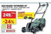 Bosch accu maaier citymower 18-Bosch