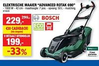 Bosch elektrische maaier advanced rotak 690-Bosch