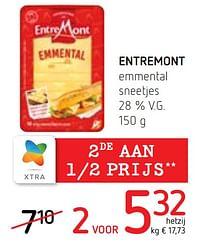 Entremont emmental sneetjes-Entre Mont
