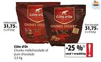 Côte d`or chunks melkchocolade of pure chocolade-Cote D