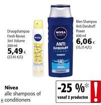 Nivea alle shampoos of conditioners-Nivea
