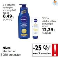 Nivea alle sun of q10 producten-Nivea