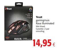 Trust gamingmuis rava illuminated-Trust