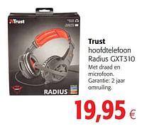 Trust hoofdtelefoon radius gxt310-Trust