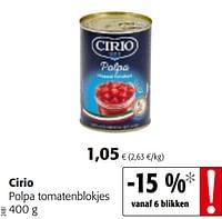 Cirio polpa tomatenblokjes-CIRIO