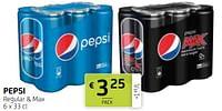 Pepsi regular + max-Pepsi